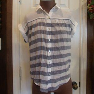 Anthropologie Hei Hei Blue Striped Perpignan Top
